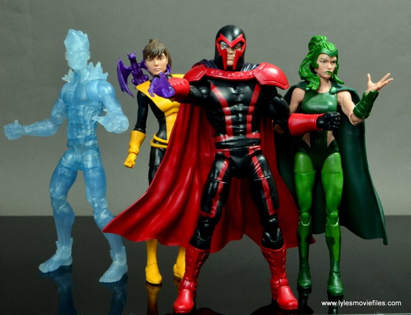 marvel legends magento review - with iceman, kitty pryde and polaris