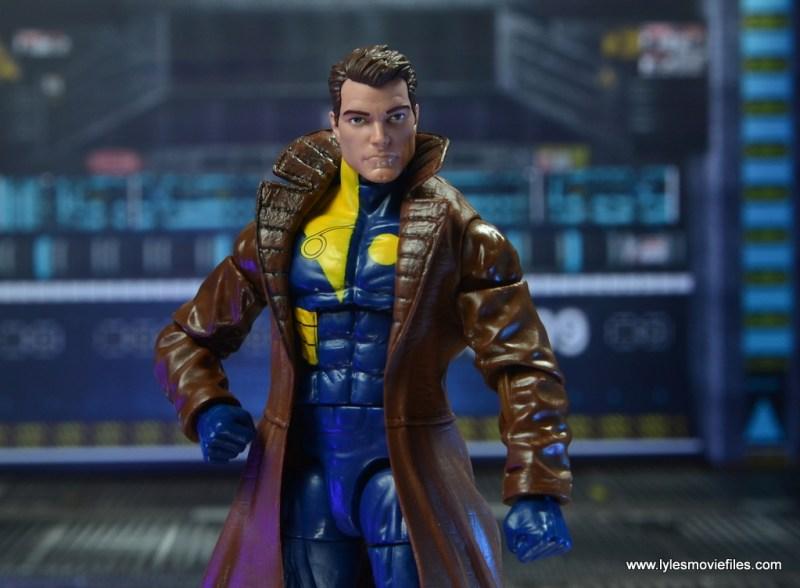 marvel legends multiple man figure review - unmasked close up