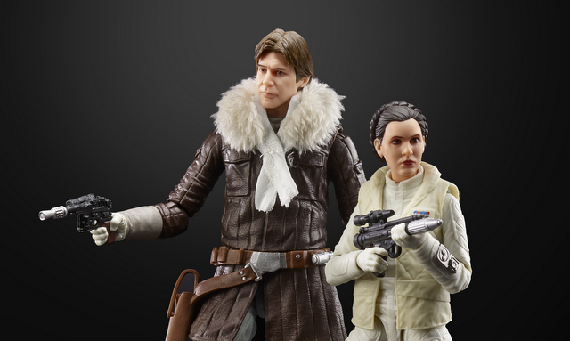 star wars black international con exclusive han and leia - action pose