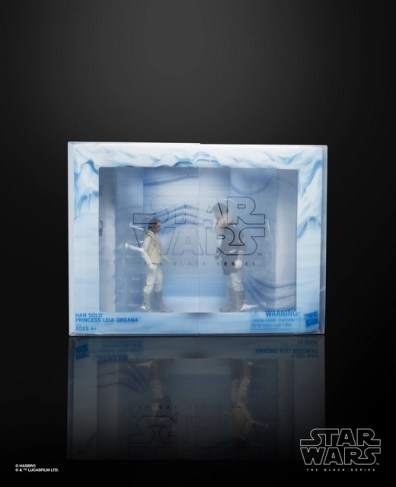 star wars black international con exclusive han and leia - package