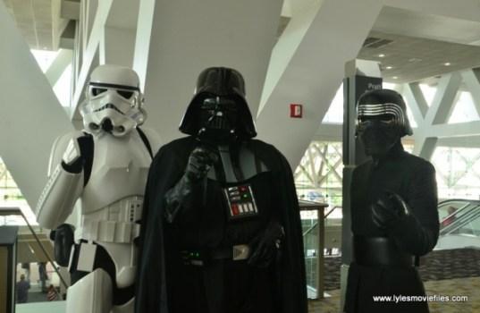 Baltimore Comic Con 2018 cosplay -Stormtrooper, Darth Vader and Kylo Ren