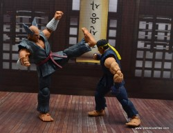 Storm Collectibles Heihachi Mishima figure review -front kick to ryu