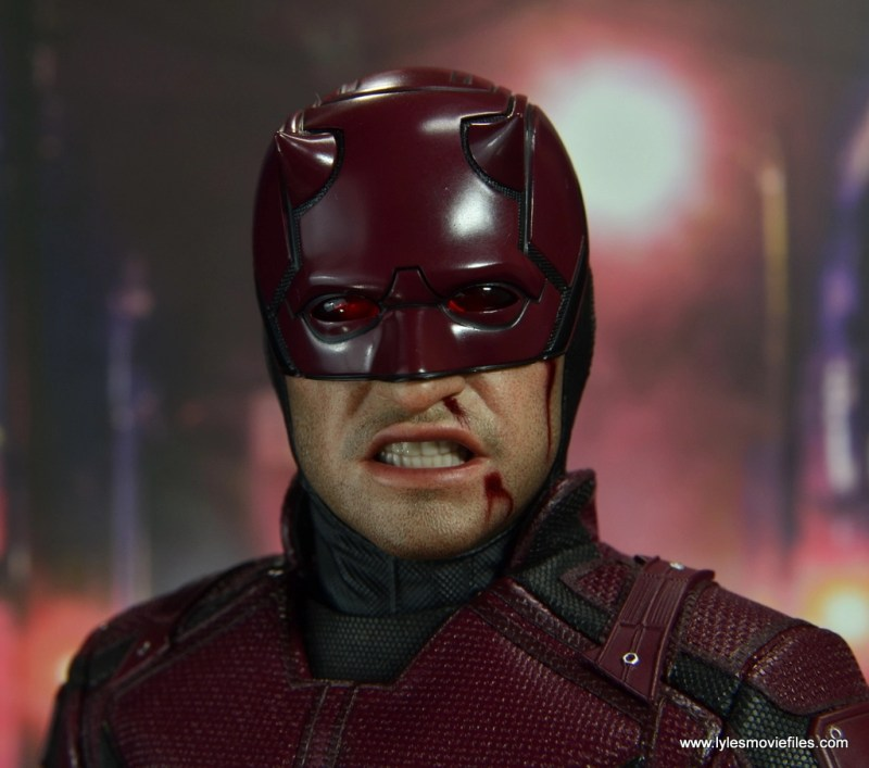 hot toys daredevil figure review - bloody face