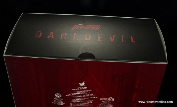 hot toys daredevil figure review - package top
