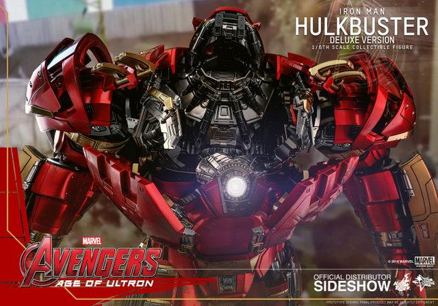 hot toys hulkbuster iron man deluxe version figure - empty cockpit
