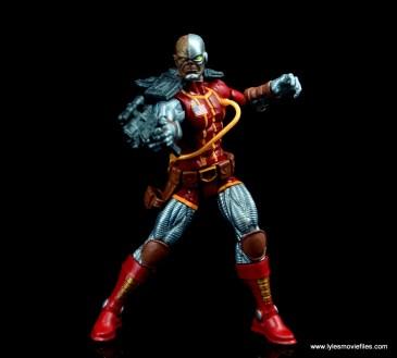 marvel legends deathlok figure review - aiming blaster