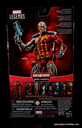 marvel legends deathlok figure review - package rear