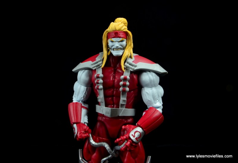 marvel legends omega red figure review - arms close