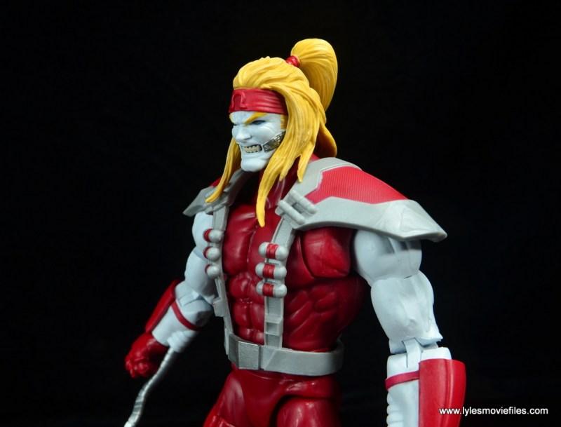 marvel legends omega red figure review - head detail