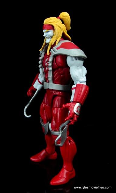 marvel legends omega red figure review - left side