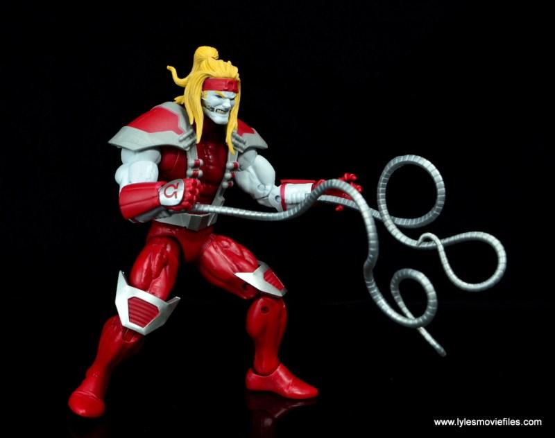 marvel legends omega red figure review - long tendrils out