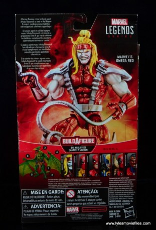 marvel legends omega red figure review - package rear