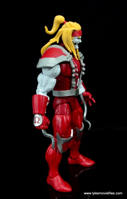 marvel legends omega red figure review - right side