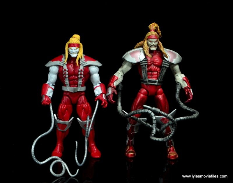 marvel legends omega red figure review - with toy biz omega red