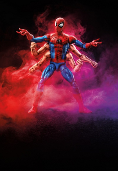 marvel legends six arm spider-man from lucca games