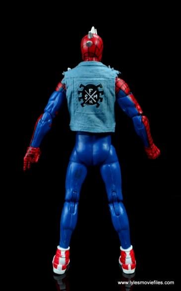 marvel legends spider-punk figure review - rear
