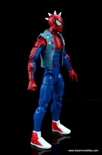 marvel legends spider-punk figure review - right side