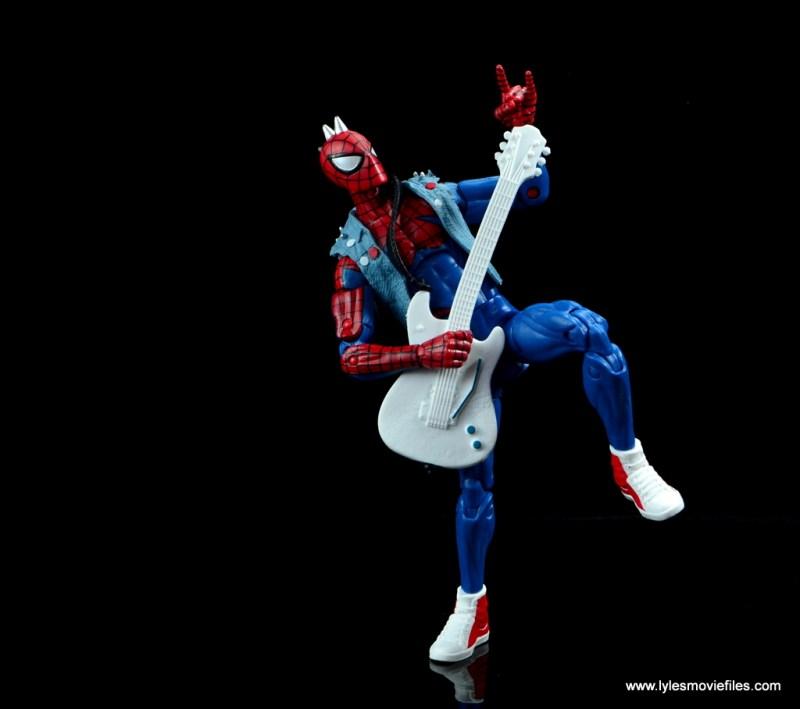 marvel legends spider-punk figure review - rocking out
