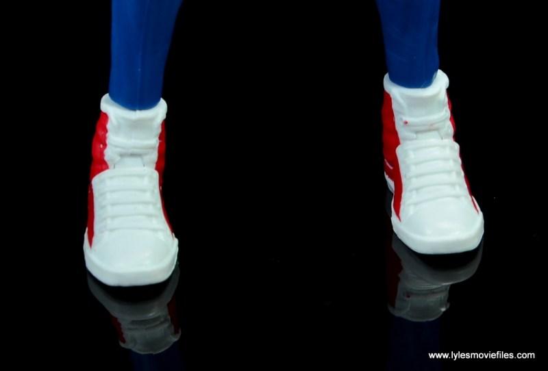 marvel legends spider-punk figure review - sneakers detail