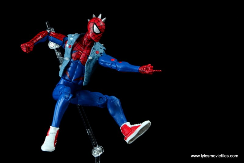 marvel legends spider-punk figure review - time to swing