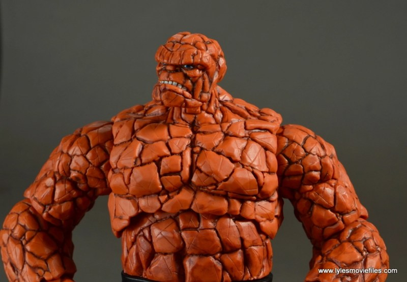 marvel legends the thing figure review - close up detail