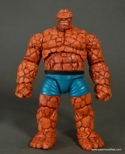 marvel legends the thing figure review - front