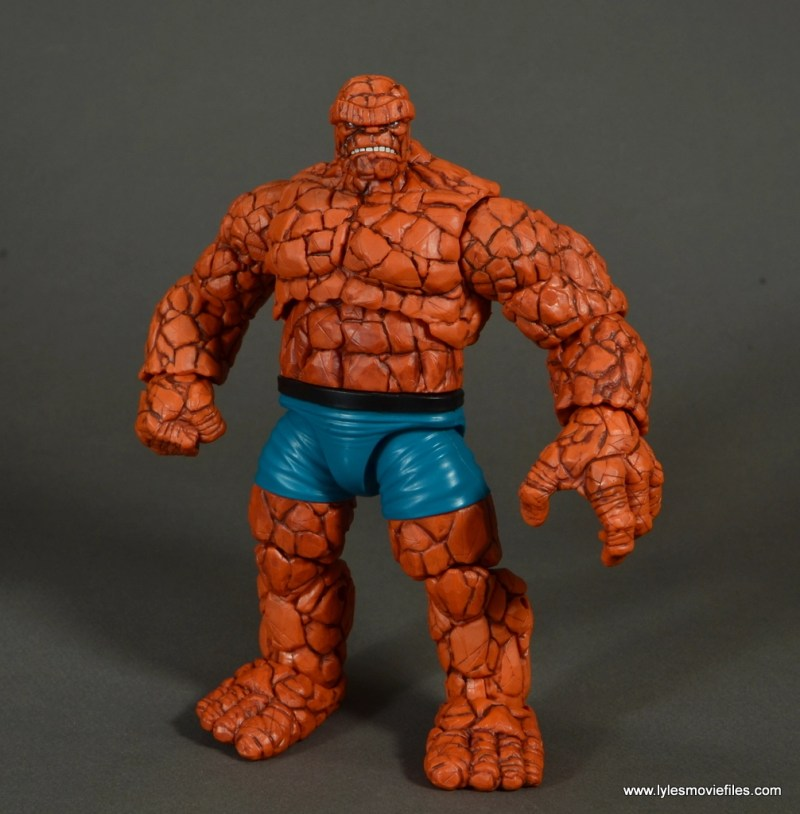 marvel legends the thing figure review - wide stance