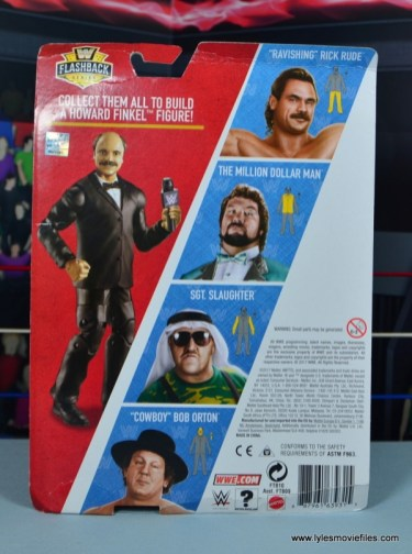 WWE Flashback Basic Rick Rude figure review - package rear
