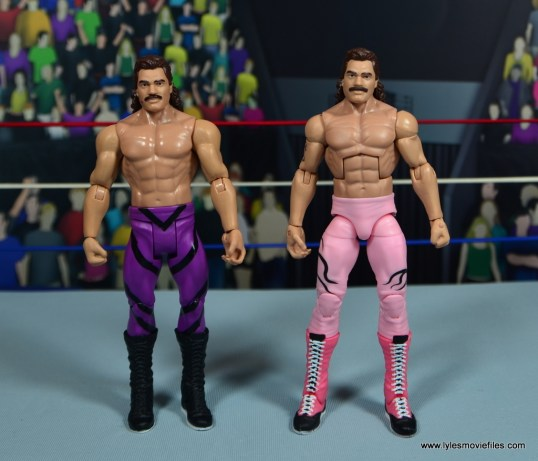 WWE Flashback Basic Rick Rude figure review - scale with Elite Rude