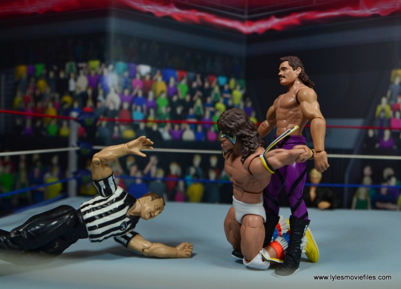 WWE Flashback Basic Rick Rude figure review - stretching out ultimate warrior
