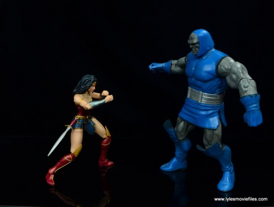 dc multiverse wonder woman figure review -bracing for omega effect