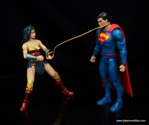 dc multiverse wonder woman figure review -lassoing superman
