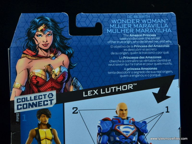 dc multiverse wonder woman figure review -package bio