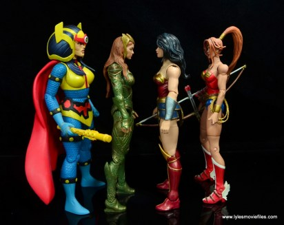 dc multiverse wonder woman figure review -scale with big barda, mera and artemis