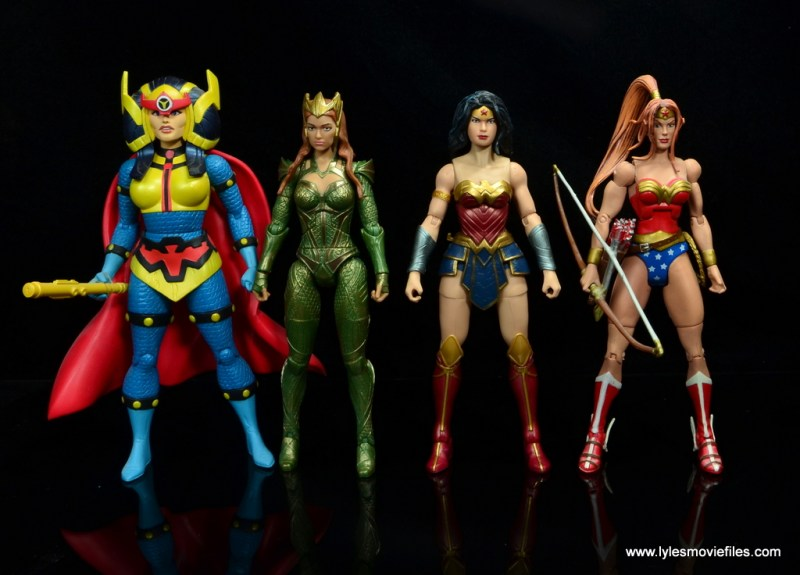 dc multiverse wonder woman figure review -with big barda, mera and artemis