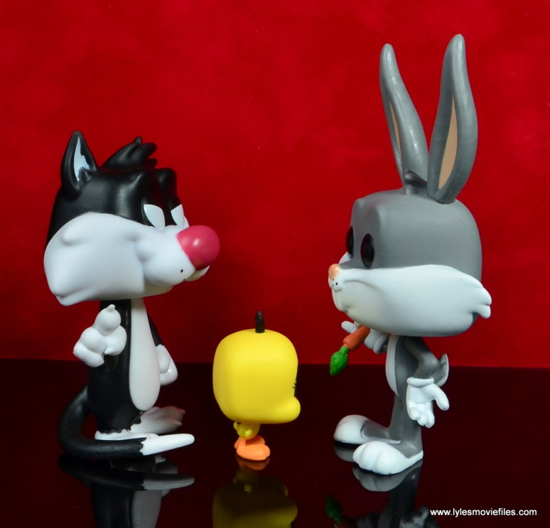 funko pop bugs bunny sylvester and tweety figure review - scale