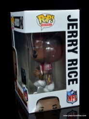 funko pop jerry rice figure review -package side shot