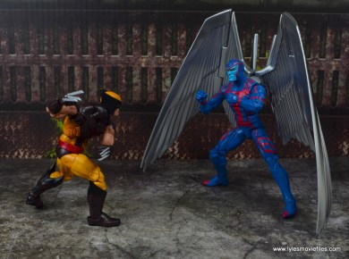 marvel legends archangel figure review - face off with wolverine