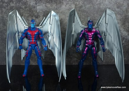 marvel legends archangel figure review - side by side with first archangel