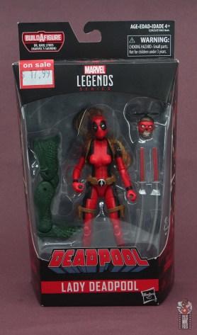 marvel legends lady deadpool figure review - package front