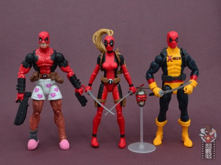 marvel legends lady deadpool figure review - scale with chill deadpool and x-men deadpool