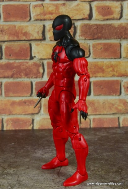 marvel legends scarlet spider figure review - left side