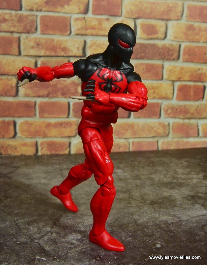 marvel legends scarlet spider figure review - stalking