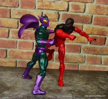 marvel legends scarlet spider figure review - vs beetle