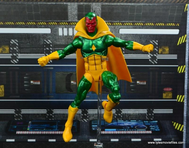 marvel legends vision figure review -flying