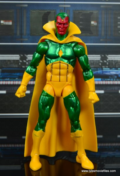 marvel legends vision figure review -front