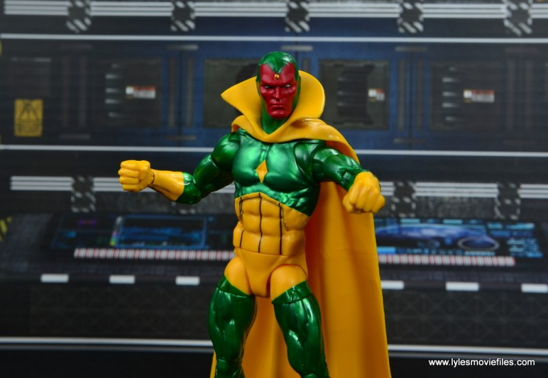 marvel legends vision figure review -wide pic