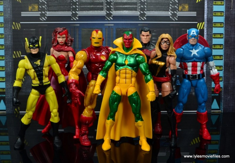 marvel legends vision figure review -with the avengers