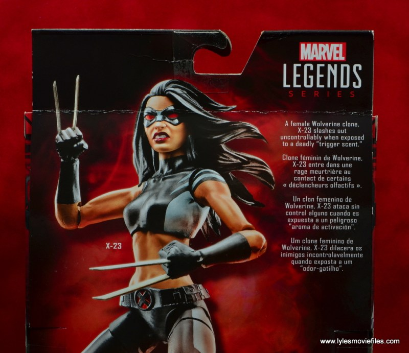marvel legends x-23 figure review - package bio