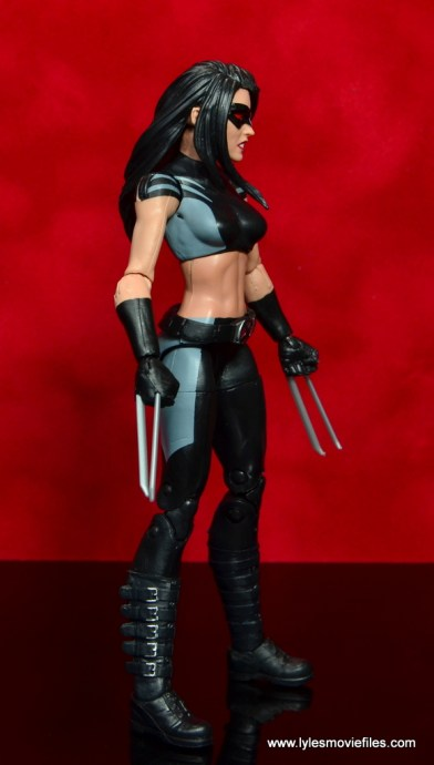 marvel legends x-23 figure review -right side